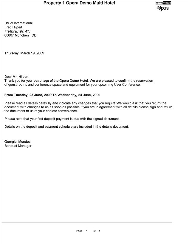 Thank You For Your Patronage Letter from ohdcs.hospitality.oracleindustry.com