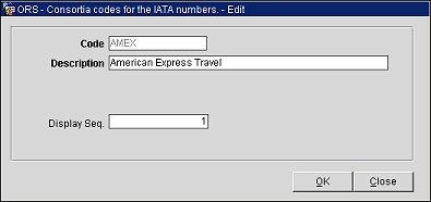 Travel Agent Consortia Codes